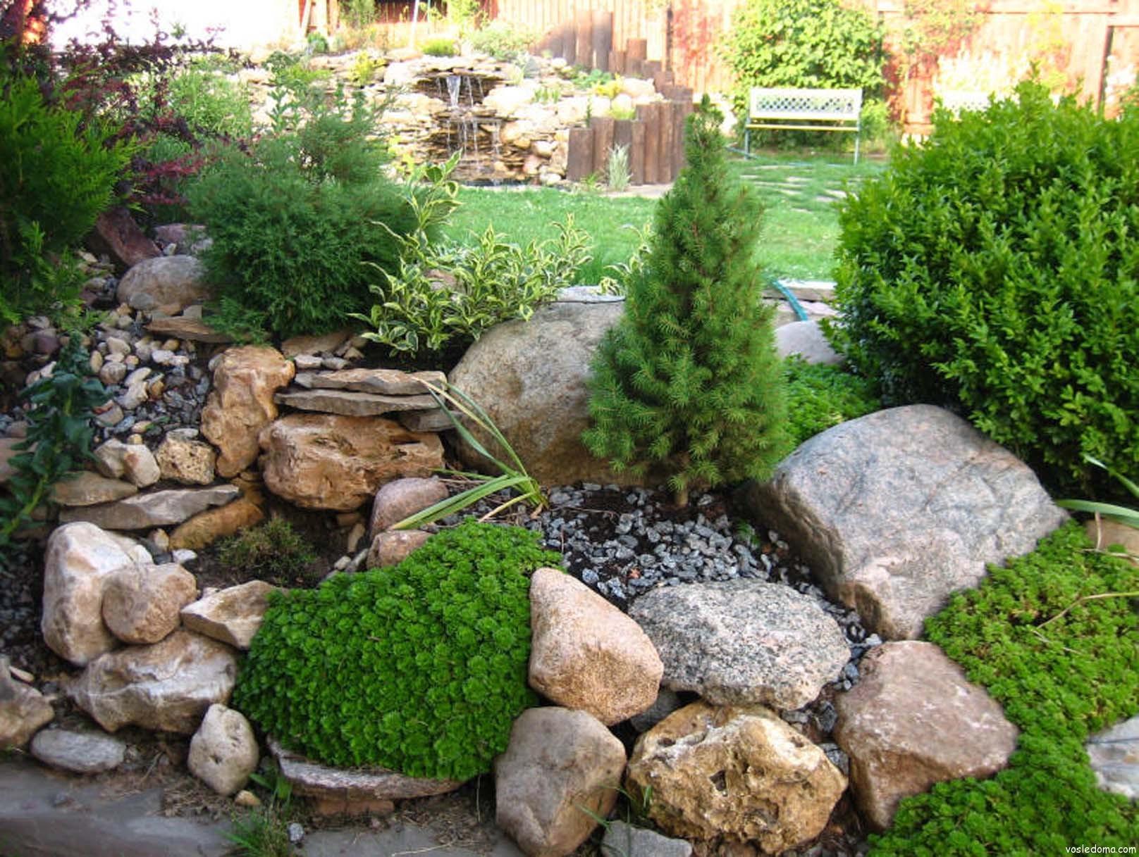 Каменистые садовые композиции