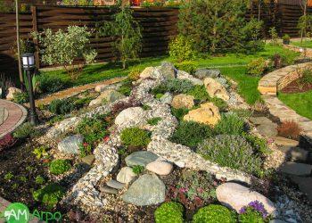 Альпинарии, сухие ручьи и цветники 1