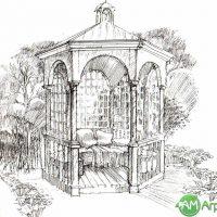 Малые архитектурные формы (беседки, барбекю, мостики и перголы) 10