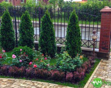 Благоустройство территории частного дома: озеленение, живые изгороди и крупномеры