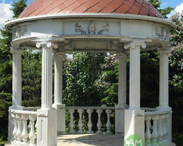 Малые архитектурные формы (мостики, перголы, ротонды и вазоны)