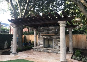 Houston outdoor fireplace builder-min
